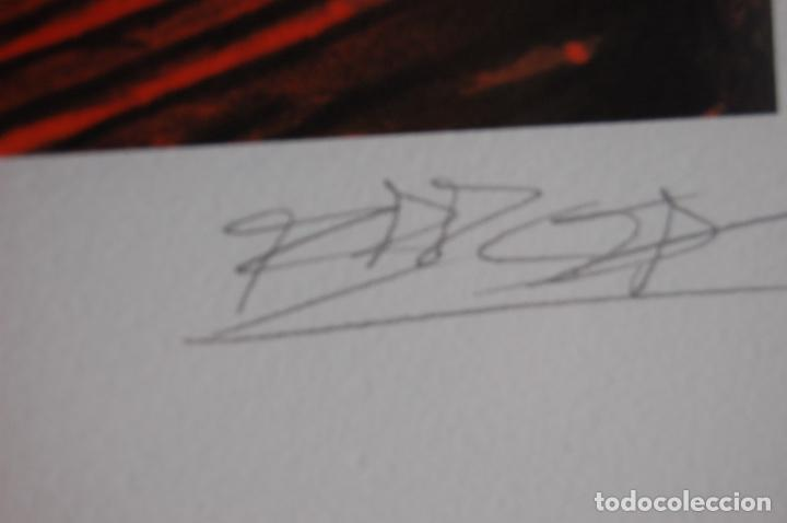 Arte: Firma sin identificar. Serigrafía de 64 x 38 enmarcada en 77 x 57. Muy buen estado. 4/75 - Foto 6 - 116241039