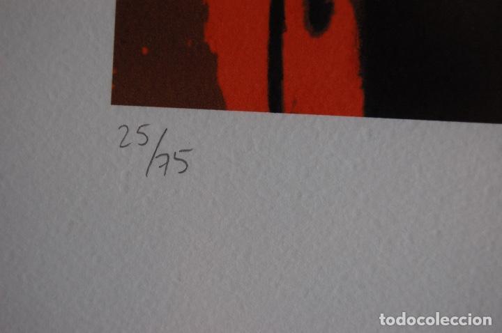 Arte: Firma sin identificar. Serigrafía de 64 x 38 enmarcada en 77 x 57. Muy buen estado. 4/75 - Foto 7 - 116241039