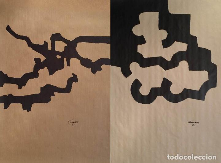 EDUARDO CHILLIDA: DOS SERIGRAFÍAS FIRMADAS EN PLANCHA (Arte - Serigrafías )
