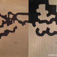 Art: EDUARDO CHILLIDA: DOS SERIGRAFÍAS FIRMADAS EN PLANCHA. Lote 195163782