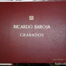 Arte: RICARDO BAROJA, CARPETA CON LA REPRODUCCION SERIGRAFICA DE 53 GRABADOS. EDIC. LIMITADA DE 250 EJEMP.. Lote 122597751
