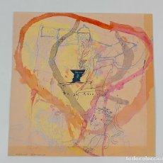 Arte: PRUEBA DE SERIGRAFÍA RETOCADA A MANO. ALBERT GONZALO CARBÓ. SIGLO XX.. Lote 123702679