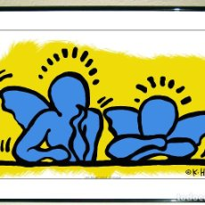 Arte: CARTEL LAMINA DE -KEITH HARING - ANGELS - AÑO 1989.TAMAÑO 68X37,5 CMS. Lote 127014627
