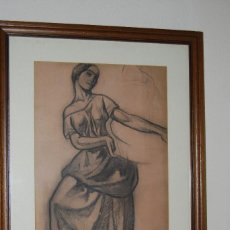 Arte: AURELIO ARTETA, BILBAO - REPRODUCCIÓN ENMARCADA - BOCETO - APUNTE - 68 X 53 CM.. Lote 137295233