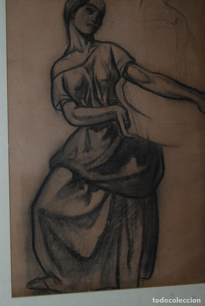 Arte: AURELIO ARTETA, BILBAO - REPRODUCCIÓN ENMARCADA - BOCETO - APUNTE - 68 x 53 CM. - Foto 2 - 137295233