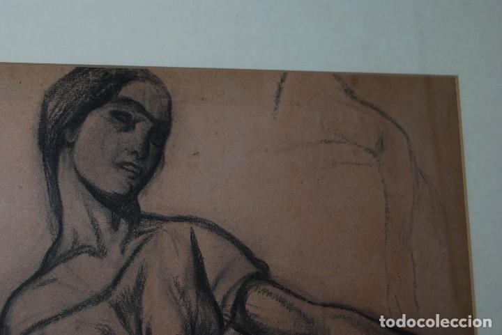 Arte: AURELIO ARTETA, BILBAO - REPRODUCCIÓN ENMARCADA - BOCETO - APUNTE - 68 x 53 CM. - Foto 3 - 137295233