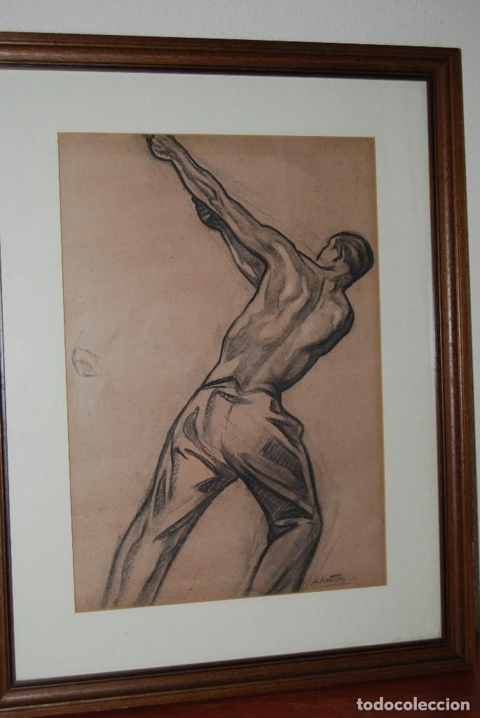 AURELIO ARTETA, BILBAO - REPRODUCCIÓN ENMARCADA - BOCETO - APUNTE - 68 X 53 CM. (Arte - Serigrafías )