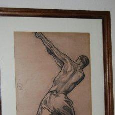 Arte: AURELIO ARTETA, BILBAO - REPRODUCCIÓN ENMARCADA - BOCETO - APUNTE - 68 X 53 CM.. Lote 137295349