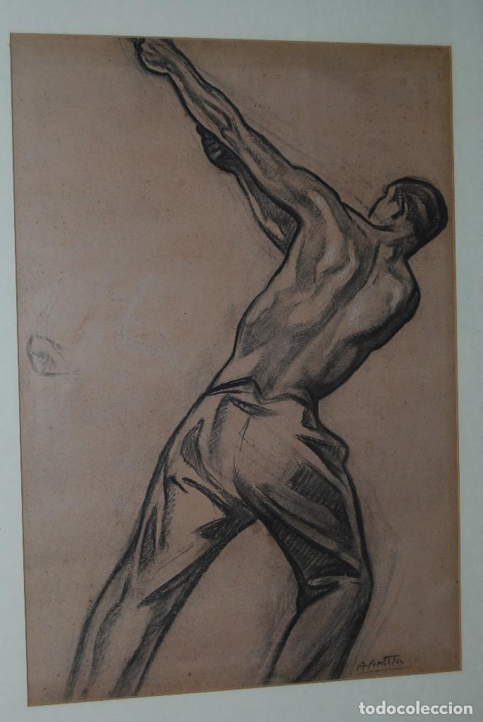 Arte: AURELIO ARTETA, BILBAO - REPRODUCCIÓN ENMARCADA - BOCETO - APUNTE - 68 X 53 CM. - Foto 2 - 137295349