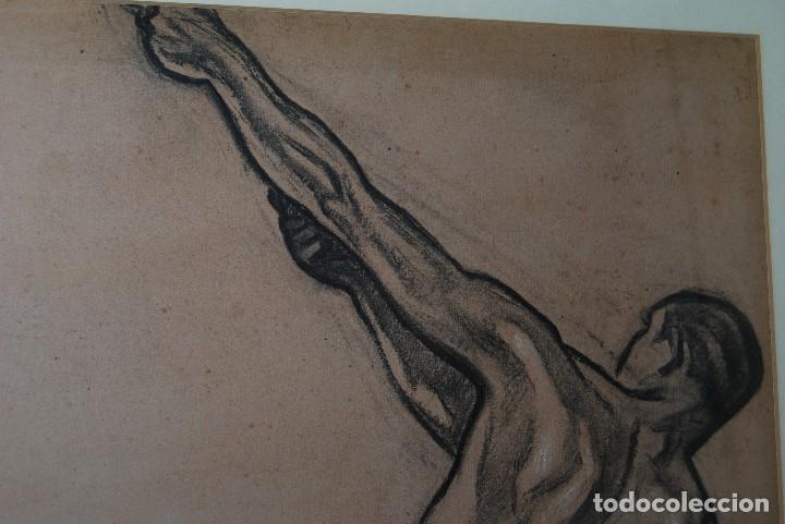 Arte: AURELIO ARTETA, BILBAO - REPRODUCCIÓN ENMARCADA - BOCETO - APUNTE - 68 X 53 CM. - Foto 3 - 137295349