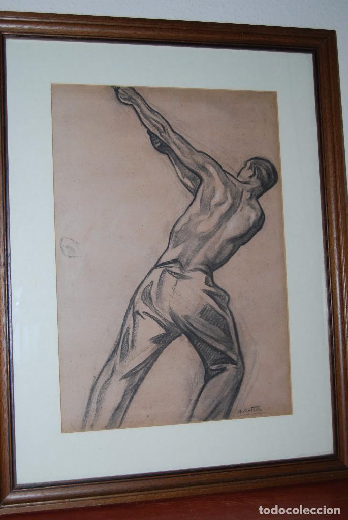 Arte: AURELIO ARTETA, BILBAO - REPRODUCCIÓN ENMARCADA - BOCETO - APUNTE - 68 X 53 CM. - Foto 7 - 137295349