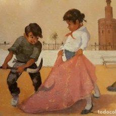 Arte: SERIGRAFIA DE PINTURA DE SEVILLA FIRMA TORO PIRIZ. Lote 129264883