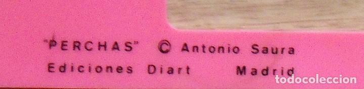Arte: Antonio Saura. Serigrafia Perchas. 1982. Ediciones Diart. Madrid. De color rosa. 34x41 cm. - Foto 2 - 182719961