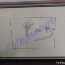 Arte: CUADRO SERIGRAFIA ORIGINAL NUMERADO PAISAJE FIRMA ILEGIBLE. Lote 129574486