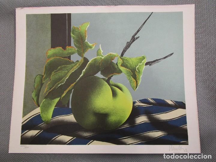 Arte: EDUARDO URCULO - SERIGRAFIA ROSA 1982, FIRMADA Y NUMERADA, ENMARCADA. - Foto 2 - 132595738