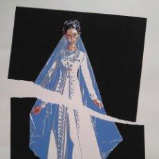 Arte: CELESTINO CUEVAS: ENVIDIA TE TIENEN LAS FLORES. EJEMPLAR 191/300. 50 X 70. Lote 133395242