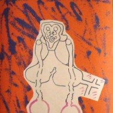 Arte: LUIS GORDILLO. SERIGRAFÍA PERSONAJE ASOMBRADO. 392/700. FIRMADA A MANO. 65X50 CM. EN PERFECTO ESTADO. Lote 133413078