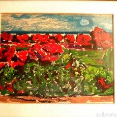 Arte: FRANCISCO LOZANO (ANTELLA,1912-VALENCIA,2000) DUNAS ,SERIGRAFIA (18 X 23) 6/100 ,AÑOS 90. ENMARCADA. Lote 133599737