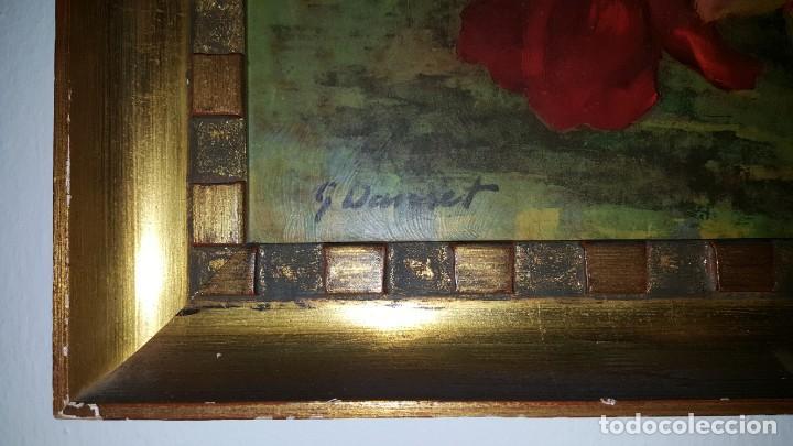 Arte: CUADRO de GEORGE DANSET - REPRO en SERIGRAFÍA BARNIZADA S/TABLA ENMAR. 57 x 74 - Años 50/60 - Foto 3 - 135053682