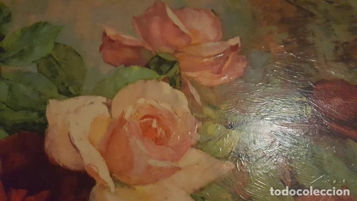Arte: CUADRO de GEORGE DANSET - REPRO en SERIGRAFÍA BARNIZADA S/TABLA ENMAR. 57 x 74 - Años 50/60 - Foto 5 - 135053682