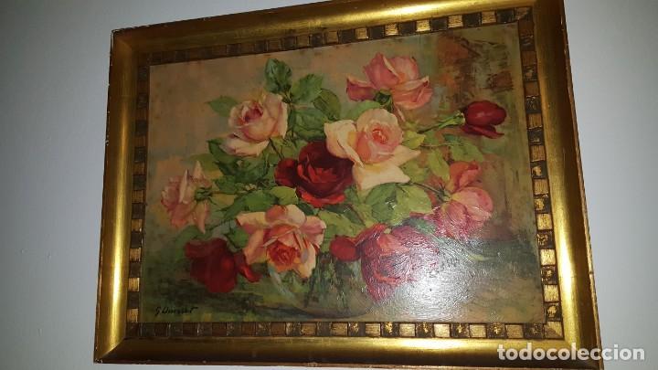 Arte: CUADRO de GEORGE DANSET - REPRO en SERIGRAFÍA BARNIZADA S/TABLA ENMAR. 57 x 74 - Años 50/60 - Foto 2 - 135053682