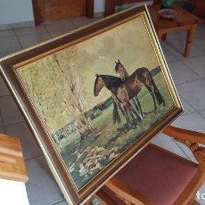 Arte: CUADRO DE RICARDO ARENYS - REPRO EN SERIGRAFÍA BARNIZADA S/TABLA ENMAR. 53 X 75 - AÑOS 50/60. Lote 135343458