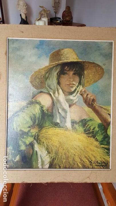 CUADRO ENRIQUE GIL GUERRA - REPRO EN SERIGRAFÍA BARNIZADA S/TABLA SIN ENMARCAR 50X61. AÑOS 50/60 (Arte - Serigrafías )