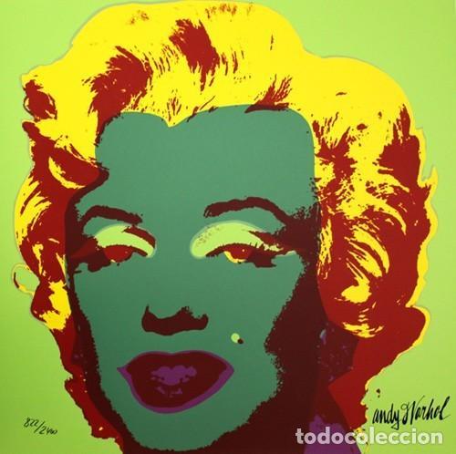 ANDY WARHOL MARILYN MONROE - 1967 - GREEN. LITOGRAFIA EN PAPEL ARTESANAL MEDIDAS PAPEL: 60 X 60 CM (Arte - Serigrafías )