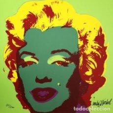 Arte: ANDY WARHOL MARILYN MONROE - 1967 - GREEN. LITOGRAFIA EN PAPEL ARTESANAL MEDIDAS PAPEL: 60 X 60 CM . Lote 140122658