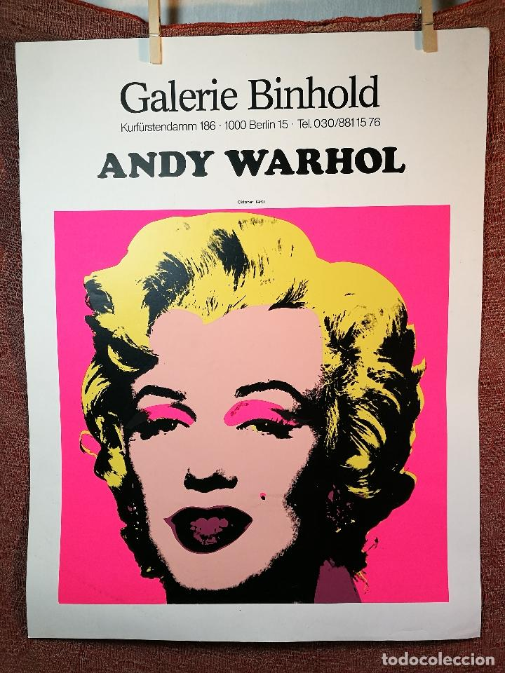 CARTEL ORIGINAL EXPOSICION ANDY WARHOL...AUSSTELLUNGSPLAKAT GALERIE BINHOLD, BERLIN, 1980-REF-D (Arte - Serigrafías )