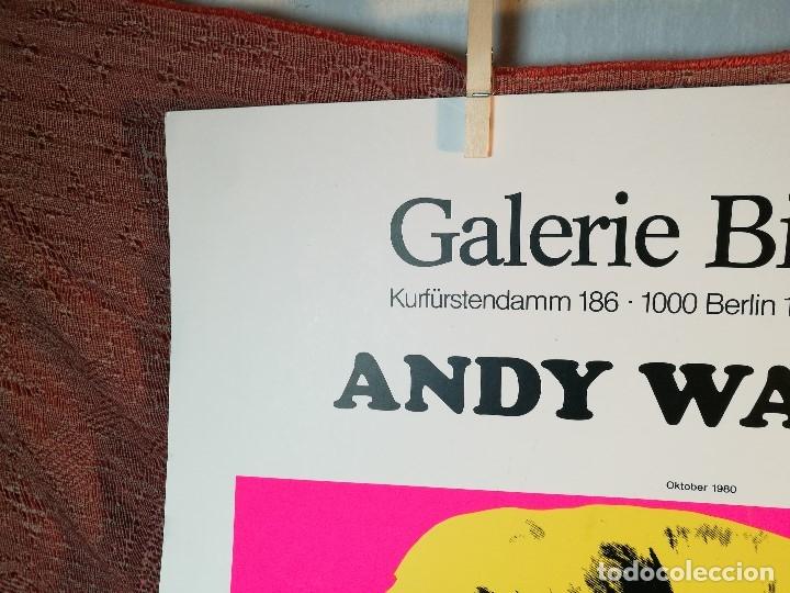 Arte: CARTEL ORIGINAL EXPOSICION ANDY WARHOL...Ausstellungsplakat Galerie Binhold, Berlin, 1980-REF-D - Foto 6 - 141164606