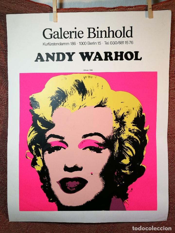 Arte: CARTEL ORIGINAL EXPOSICION ANDY WARHOL...Ausstellungsplakat Galerie Binhold, Berlin, 1980-REF-D - Foto 12 - 141164606