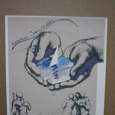 Arte: SERIGRAFIA JOAN CASTEJON, FIRMADA Y NUMERADA. Lote 142357330