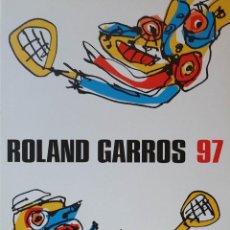 Arte: ANTONIO SAURA: SERIGRAFÍA FIRMADA Y NUMERADA /+ CARTEL / ROLLAND GARROS/ PARÍS, 1997. Lote 267210394