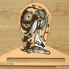 Arte: ANTONIO SAURA. PERCHA DE COLOR CARNE. EDICIONES DIART. MADRID. 1982. 34X41 CM. SERIGRAFÍA.. Lote 131546934