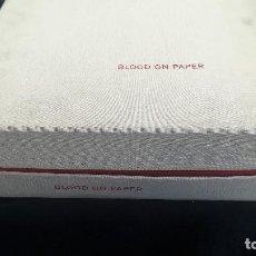 Arte: BLOOD AND PAPER. LIBRO DE ARTISTA. IVORYPRESS. Lote 145180390