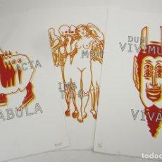 Arte: PERET (PERE TORRENT), 3 SERIGRAFÍAS, VANITAS, TIRAJE 45 / 150, BARCELONA. 29,5X42,5CM. Lote 145588250