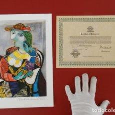 Arte: PABLO PICASSO FIRMADO A MANO Y NUMERADO, CERTIFICADO DE AUTENTICIDAD INCLUIDO-INTERÉS CHILLIDA, MIRÓ. Lote 146719138
