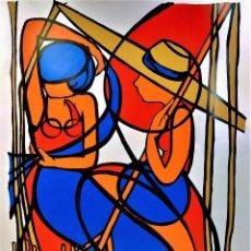 Arte: LES FANEUSES. SERIGRAFIA MANUAL. FIRMADO YFA. 210/1000. ED. IMPACT. FRANCIA. XX. Lote 147009310