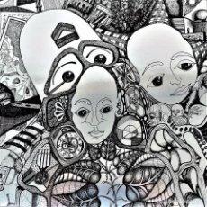 Arte: LES RUBANS. SERIGRAFIA MANUAL. FIRMADO PIERRE ABRUZZO. 597/1000. ED. IMPACT. FRANCIA. XX. Lote 147018802
