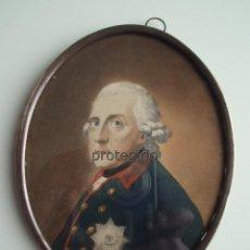Arte: FEDERICO II DE PRUSIA, *EL GRANDE*. SERIGRAFÍA, ILUMINADA A MANO CON ACUARELA. SIGLO XIX.. Lote 147698046