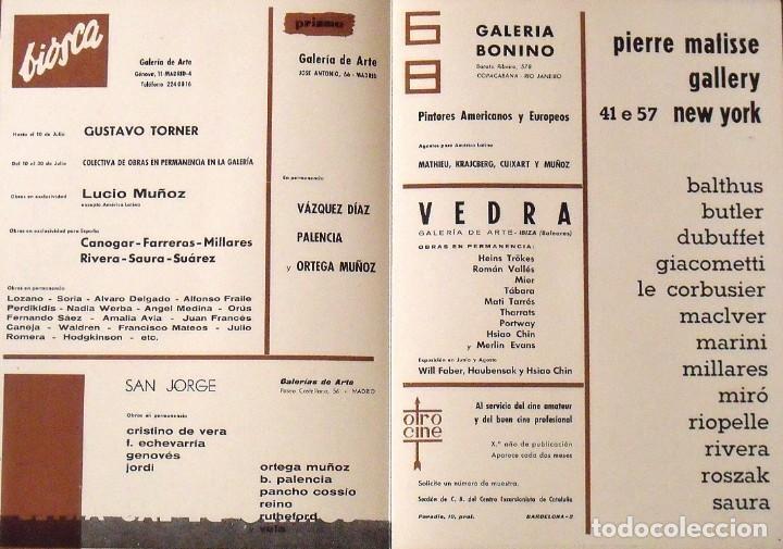 Arte: Serigrafía original Antonio Saura. Portada Correo de las Artes Nº 32. 1961. Buen estado. - Foto 3 - 215293847