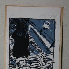 Arte: SERIGRAFÍA DE FERNANDO BERMEJO - COMIDA EN PORTUGAL - 1985 - NUMERADA Y FIRMADA. Lote 150839586
