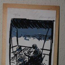 Arte: SERIGRAFÍA DE FERNANDO BERMEJO - DÍA DE AGOSTO - 1985 - NUMERADA Y FIRMADA. Lote 150839746