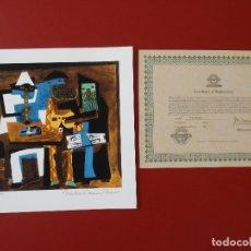 Arte: PABLO PICASSO FIRMADO A MANO Y NUMERADO, CERTIFICADO DE AUTENTICIDAD INCLUIDO-INTERÉS CHILLIDA, MIRÓ. Lote 150980394