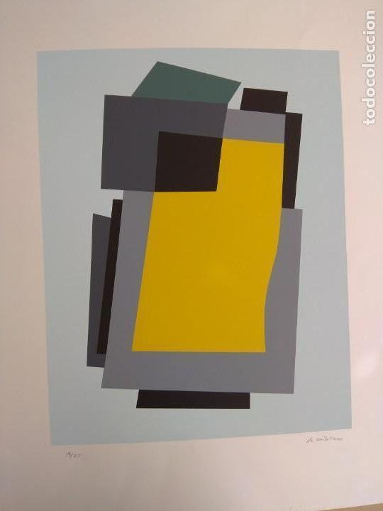 SERIGRAFIA DE VICENTE CASTELLANO GINER VANGUARDIAS AÑOS 50 MIEMBRO FUNDADOR DEL GRUPO PARPALLO. (Arte - Serigrafías )