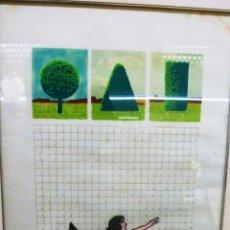 Arte: ALBERO CORAZÓN SERIGRAFIA . Lote 151142914