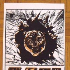 Arte: HAROON BENKTIB. SERIGRAFÍA TIGRE. TIGER. 35X25 CM. FIRMADA A MANO. NUMERADA 14/100. 1994.. Lote 151362070