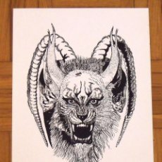 Arte: RAUL DÍAZ RUANO. SERIGRAFÍA ANIMAL FANTÁSTICO. 35X25 CM. FIRMADA A MANO. NUMERADA 14/100. 1994.. Lote 151362202