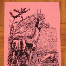 Arte: JUAN CARLOS DÍAZ ESCUDERO. SERIGRAFÍA CIERVOS. 35X25 CM. FIRMADA A MANO. NUMERADA 14/100. 1994.. Lote 151362358